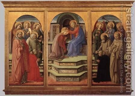 Coronation of the Virgin 1441-45 by Fra Filippo Lippi - Reproduction Oil Painting