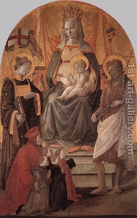 Madonna del Ceppo 1453 by Fra Filippo Lippi - Reproduction Oil Painting
