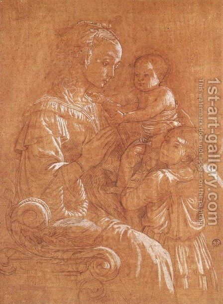 Madonna with the Child and two Angels by Fra Filippo Lippi - Reproduction Oil Painting