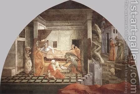 St Stephen is Born and Replaced by Another Child 1452-65 by Fra Filippo Lippi - Reproduction Oil Painting