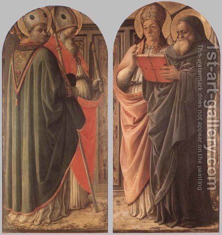 The Doctors of the Church c. 1437 by Fra Filippo Lippi - Reproduction Oil Painting