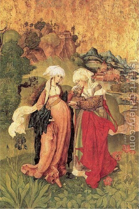 The Visitation 1506 by Master M.S. - Reproduction Oil Painting