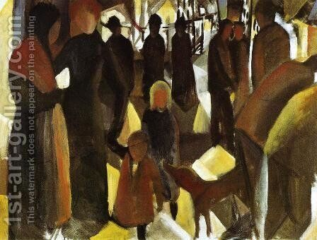 Leave-Taking (Abschied)  1914 by August Macke - Reproduction Oil Painting