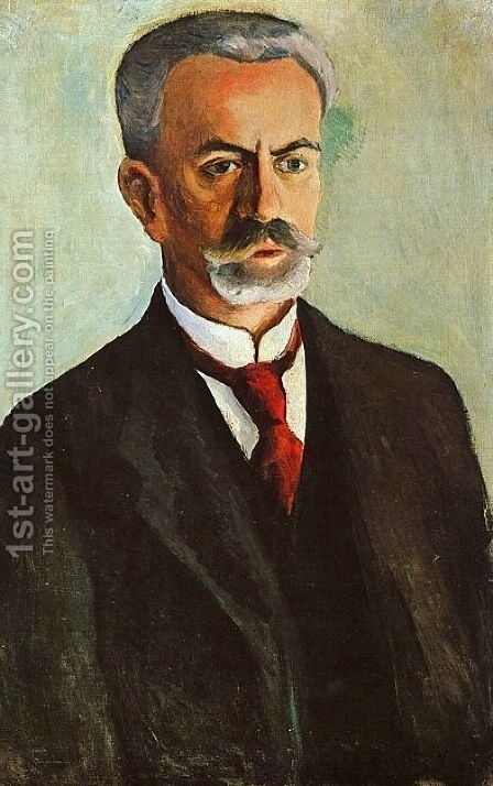 Portrait of Bernhard Koehler  1910 by August Macke - Reproduction Oil Painting