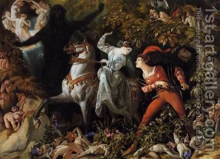 """A Scene from """"Undine"""" 1843 by Daniel Maclise - Reproduction Oil Painting"""