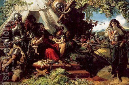 King Cophetua and the Beggarmaid by Daniel Maclise - Reproduction Oil Painting