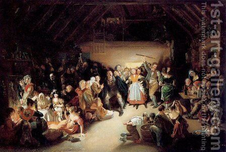 Snap-Apple Night by Daniel Maclise - Reproduction Oil Painting