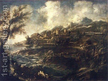 The Seashore c. 1700 by Alessandro Magnasco - Reproduction Oil Painting
