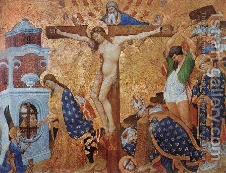 Calvary and the Martyrdom of St Denis 1416 by Jean Malouel - Reproduction Oil Painting