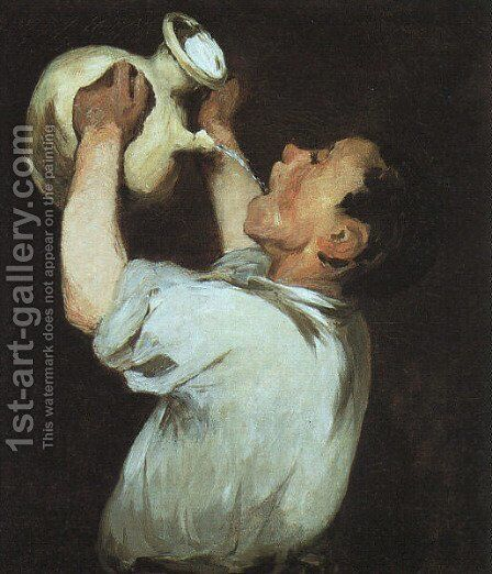 Boy with a Pitcher  1862 by Edouard Manet - Reproduction Oil Painting