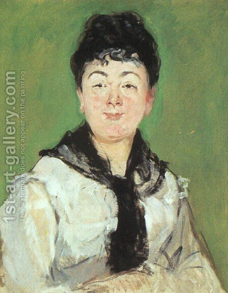 Portrait of a Lady with a Black Fichu  1878 by Edouard Manet - Reproduction Oil Painting