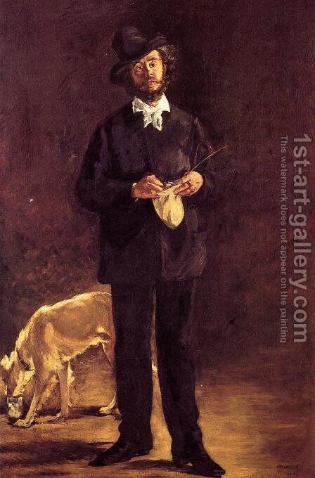 Portrait of Gilbert-Marcellin Desboutin  1875 by Edouard Manet - Reproduction Oil Painting