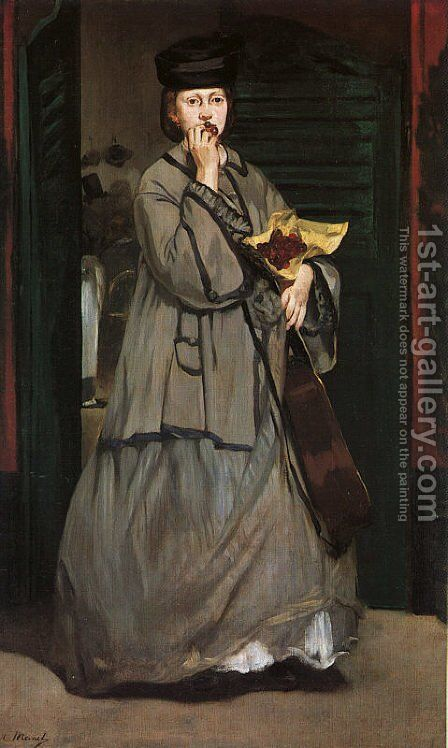 Street Singer  1862 by Edouard Manet - Reproduction Oil Painting