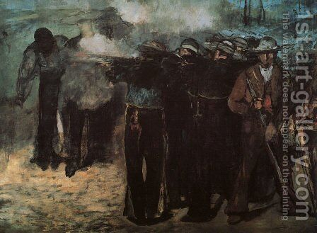 "Study for ""Execution of the Emperor Maximilian"" 1867 by Edouard Manet - Reproduction Oil Painting"