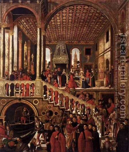 The Miraculous Healing of the Daughter of Benvegnudo of S. Polo c. 1505 by Giovanni Mansueti - Reproduction Oil Painting