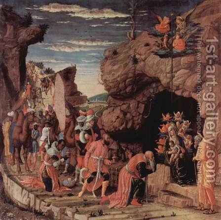 Adoration of the Magi 2 by Andrea Mantegna - Reproduction Oil Painting