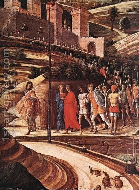 Agony in the Garden (detail) c. 1459 by Andrea Mantegna - Reproduction Oil Painting