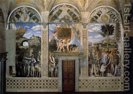 Arrival of Cardinal Francesco Gonzaga 1471-74 by Andrea Mantegna - Reproduction Oil Painting