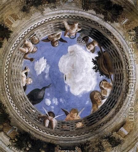 Ceiling Oculus 1471-74 by Andrea Mantegna - Reproduction Oil Painting