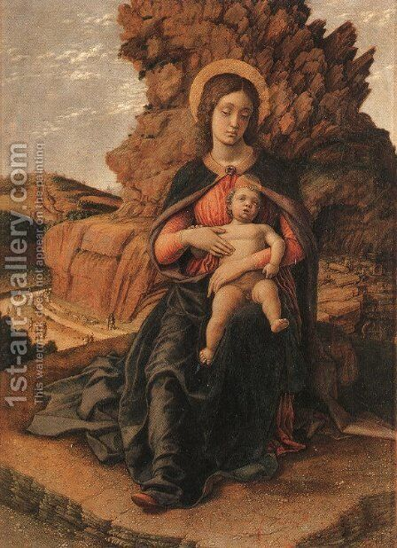 Madonna and Child  1506 by Andrea Mantegna - Reproduction Oil Painting