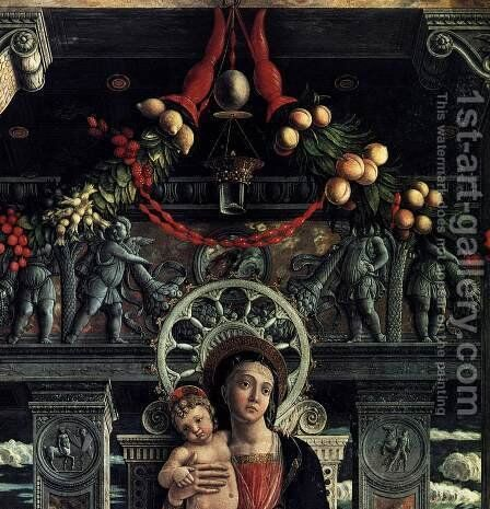 San Zeno Polyptych (detail-2) 1457-60 by Andrea Mantegna - Reproduction Oil Painting