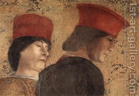 The Court of Mantua (detail-2) 1471-74 by Andrea Mantegna - Reproduction Oil Painting