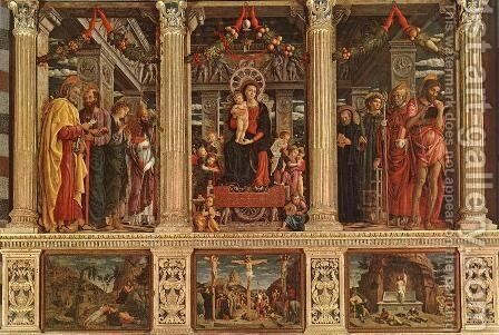 The San Zeno Polyptych 1457-60 by Andrea Mantegna - Reproduction Oil Painting