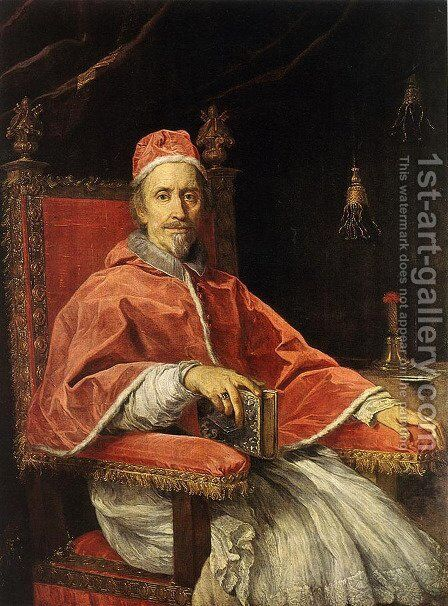 Portrait of Pope Clement IX  1669 by Carlo Maratti - Reproduction Oil Painting