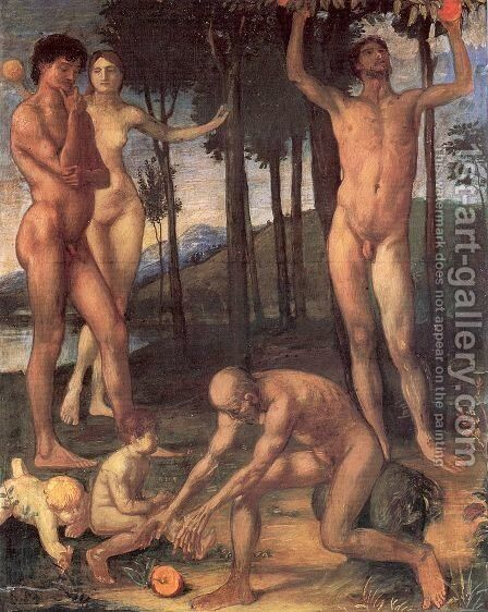 The Four Ages of Man  1877-78 by Hans von Marees - Reproduction Oil Painting