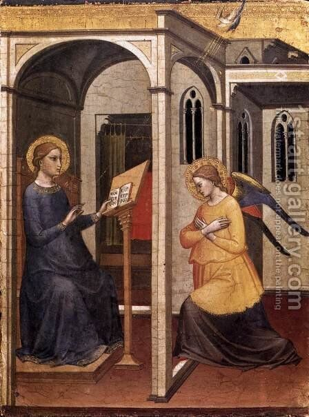 Annunciation 1395 by Mariotto Di Nardo - Reproduction Oil Painting