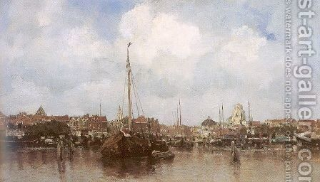 Dutch Town on the Edge of the Sea 1883 by Jacob Henricus Maris - Reproduction Oil Painting
