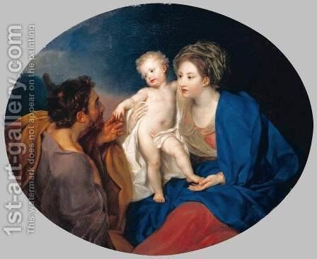 Madonna and Child with a Shepherd by Anton von Maron - Reproduction Oil Painting