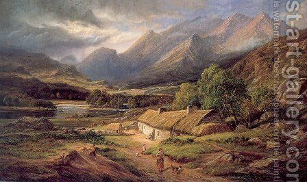 Sunshine and Showers - At Home in Killarney by James Richard Marquis - Reproduction Oil Painting