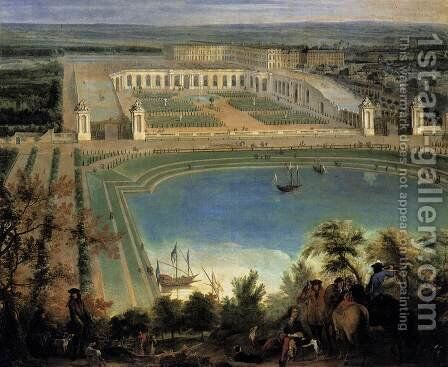 View of the Orangerie (detail) 1688-90 by Jean-Baptiste Martin (Des Batailles) - Reproduction Oil Painting