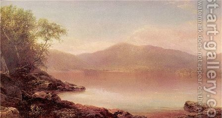 View of Lake George from Long Island by Homer Dodge Martin - Reproduction Oil Painting