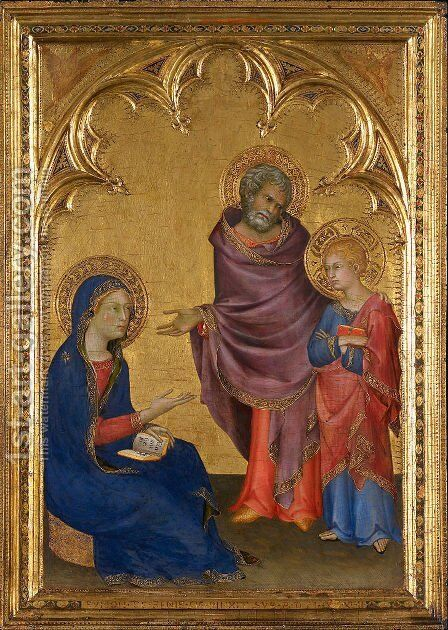 Christ Discovered in the Temple (The Holy Family)  1342 by Simone Martini - Reproduction Oil Painting