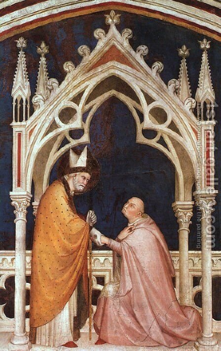 Consecration of the Chapel (detail)  1321 by Simone Martini - Reproduction Oil Painting