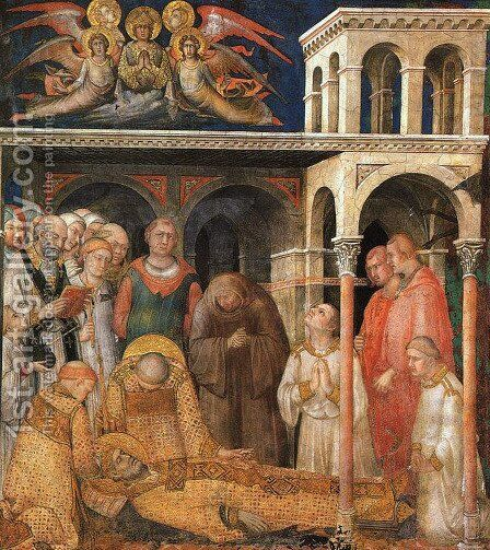 The Death of St. Martin (1)  1321 by Simone Martini - Reproduction Oil Painting