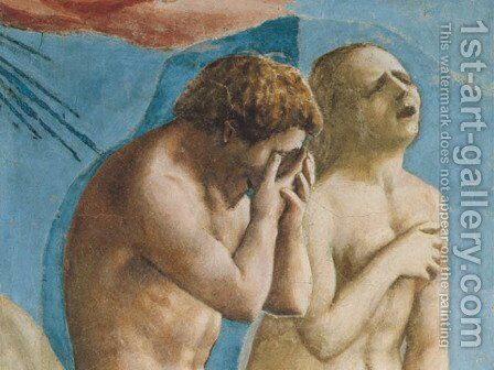The Expulsion from the Garden of Eden (detail) 1426-27 by Masaccio (Tommaso di Giovanni) - Reproduction Oil Painting