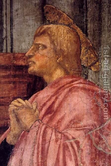 Trinity (detail-2) 1425-28 by Masaccio (Tommaso di Giovanni) - Reproduction Oil Painting