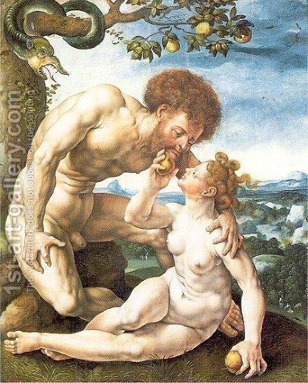 Adam and Eve 1525 2 by Jan (Mabuse) Gossaert - Reproduction Oil Painting