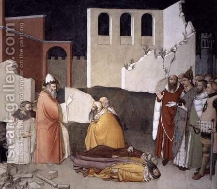 Pope St Sylvester's Miracle (detail) 1340 by Maso Di Bianco - Reproduction Oil Painting