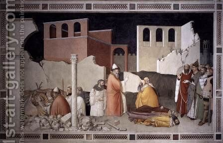 Pope St Sylvester's Miracle 1340 by Maso Di Bianco - Reproduction Oil Painting