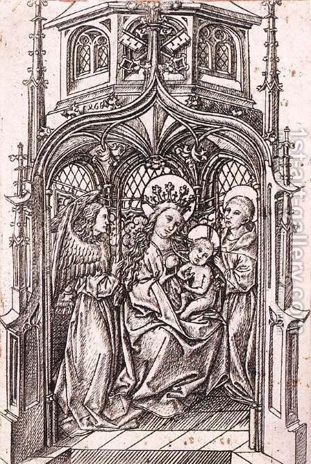The Smallest Virgin of Einsiedeln 1466 by Master E. S. - Reproduction Oil Painting