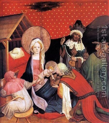 Adoration of the Magi 1424 by Master Francke - Reproduction Oil Painting