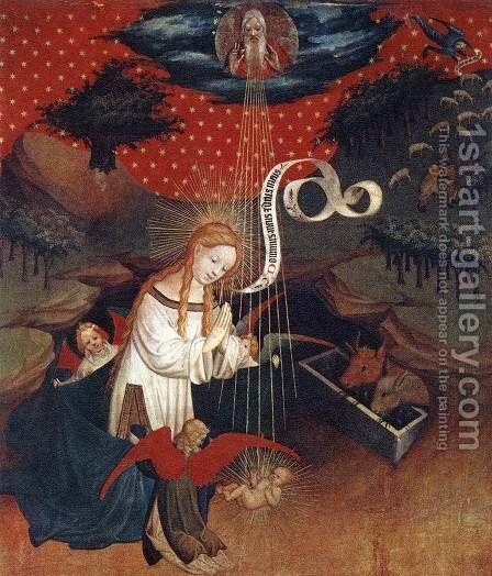Birth of Jesus 1424 by Master Francke - Reproduction Oil Painting