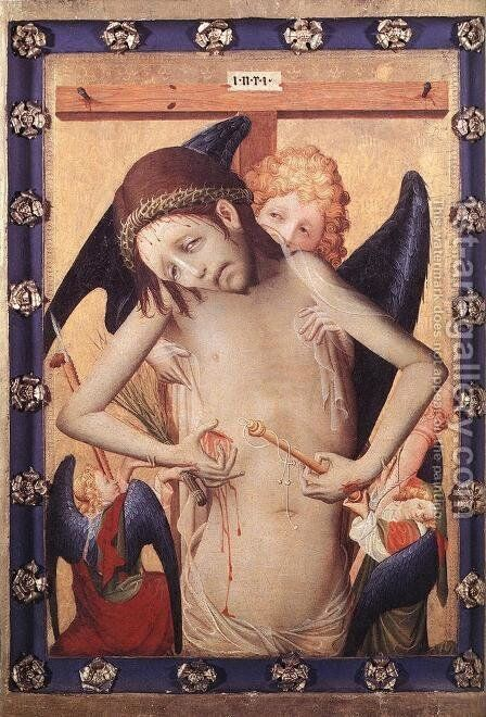 Vir Dolorum (Man of Sorrows) c. 1420 by Master Francke - Reproduction Oil Painting