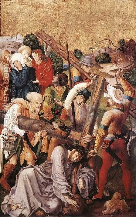 Christ Carrying the Cross 1506 by Master M.S. - Reproduction Oil Painting