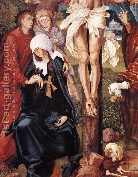 The Crucifixion (detail-2) 1506 by Master M.S. - Reproduction Oil Painting