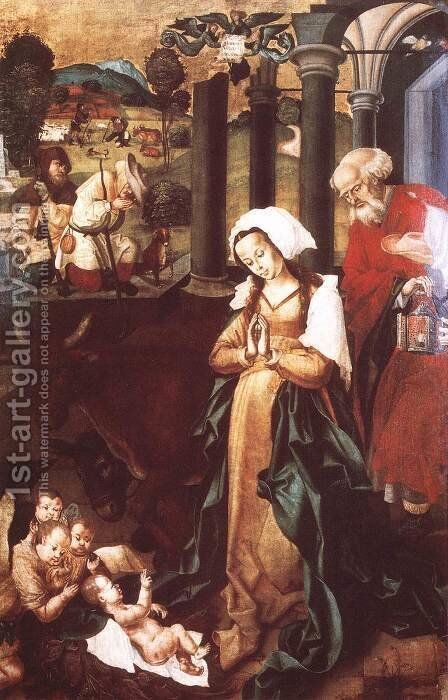 The Nativity 1506 by Master M.S. - Reproduction Oil Painting